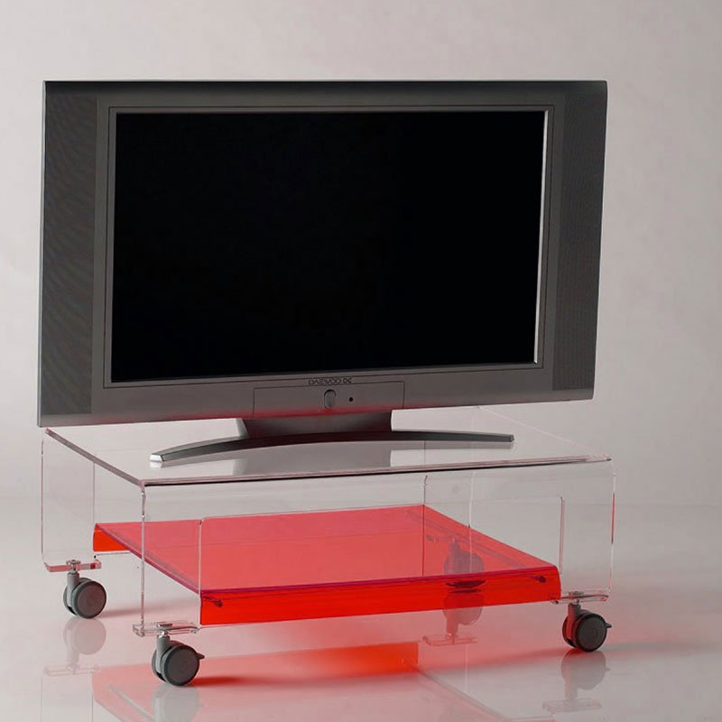 tavolino porta tv con ruote 75x52xh31 cm verve struttura in ... - Mobili Tv Con Rotelle