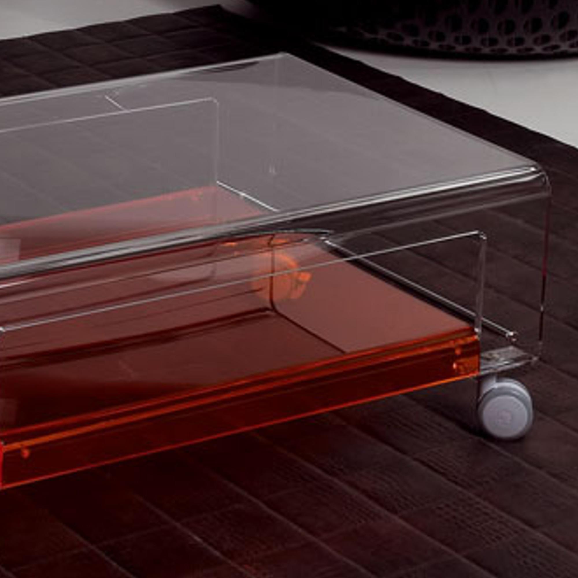 Tavolino Porta TV con ruote 75x52xh31 cm VERVE struttura in ...