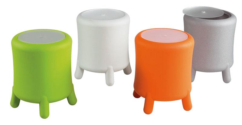 Portabiancheria sgabello diametro xh cm bongo in polietilene