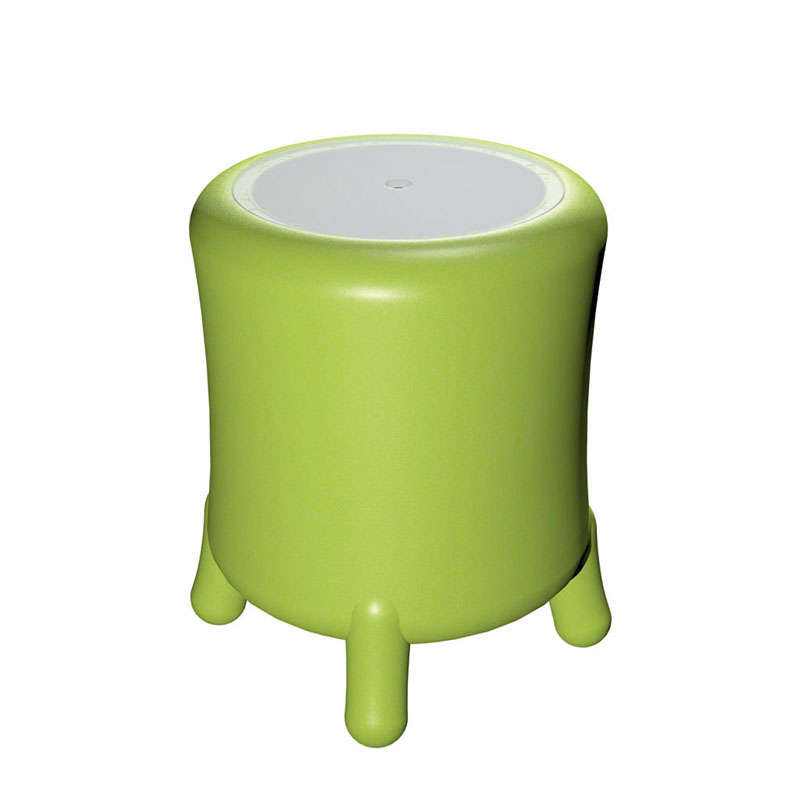 Portabiancheria Sgabello diametro 45xh49 cm BONGO in polietilene Verde  Empo...