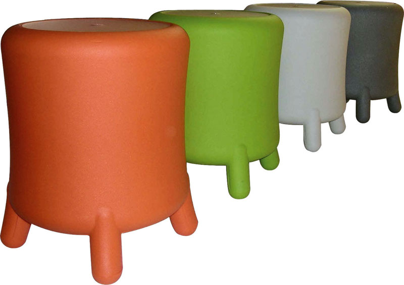 Portabiancheria sgabello diametro 45xh49 cm bongo in polietilene