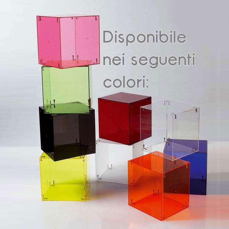 Cubi Da Parete Con Ante.Comodino Cubo Vintage Realizzato Con Tre Cubi 2 Ante E Tre Basi