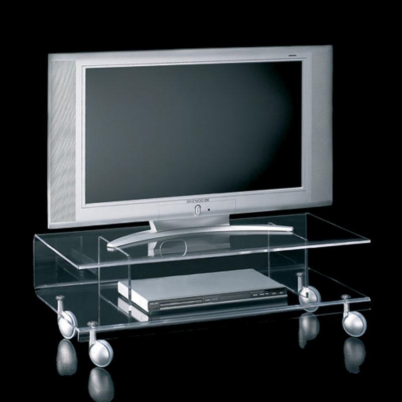 Carrello porta tv basso 92x41xh30 cm ANDY 6 in metacrilato  -> Tv Lowboard Porta