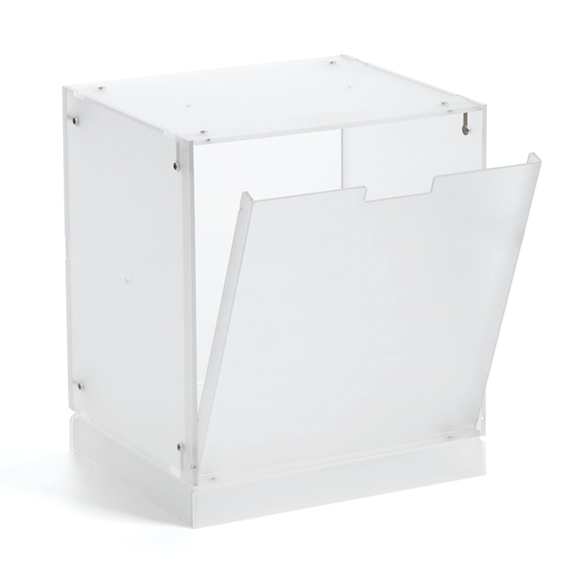 cubo vintage con anta cm in metacrilato bianco satinato emporium stilcasa net. Black Bedroom Furniture Sets. Home Design Ideas