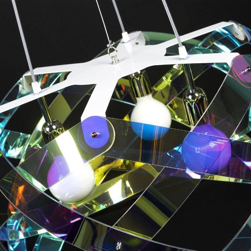 Lampadario a sospensione diametro 67xh38 cm NUCLEA Flash Grande ...