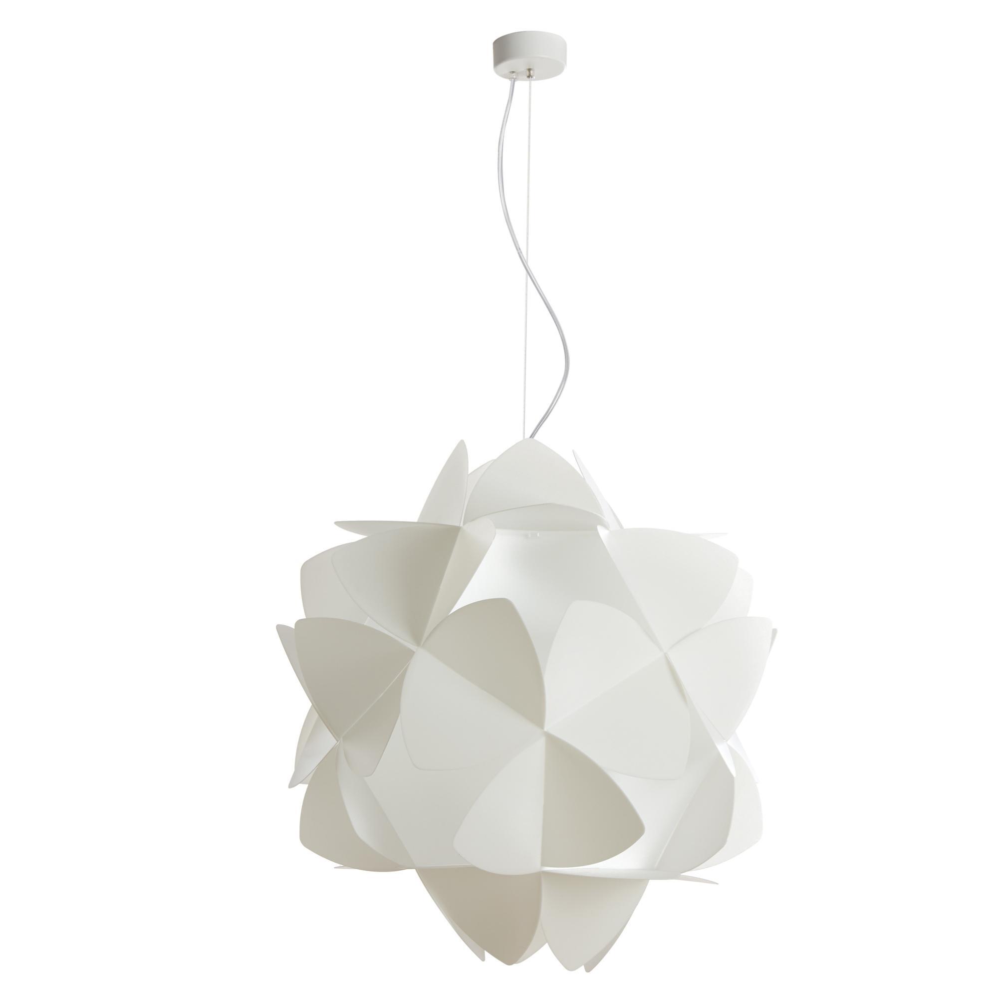 Lampada a sospensione 3 luci sandylex pearl Cotton Light Ø63 cm bianco