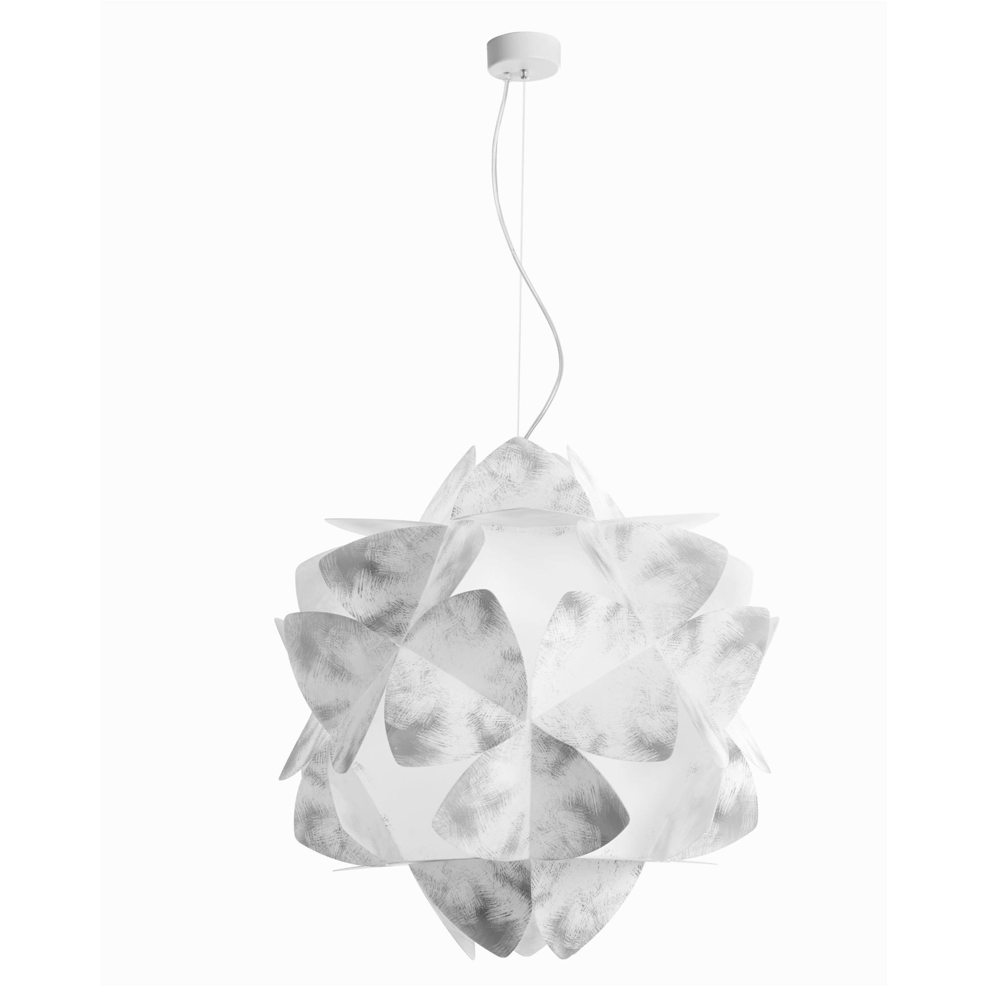Lampada a sospensione 3 luci sandylex pearl Cotton Light Ø63 cm Grigio nuance