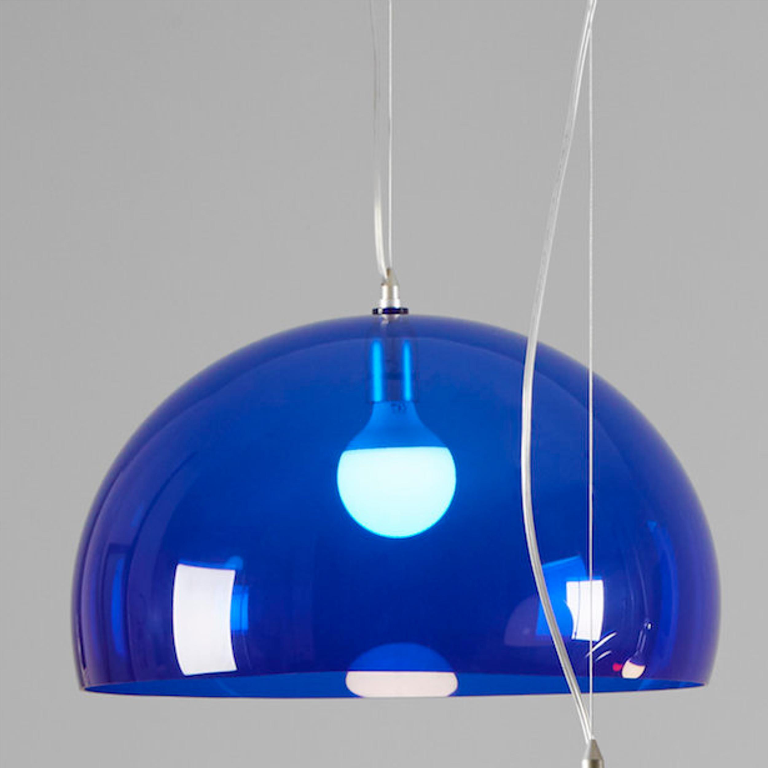 Lampada a Sospensione semisferica in Plastica PMMA SEMISFERA Ø50XH19 cm 2,7 kg Cavo di fissaggio acciaio