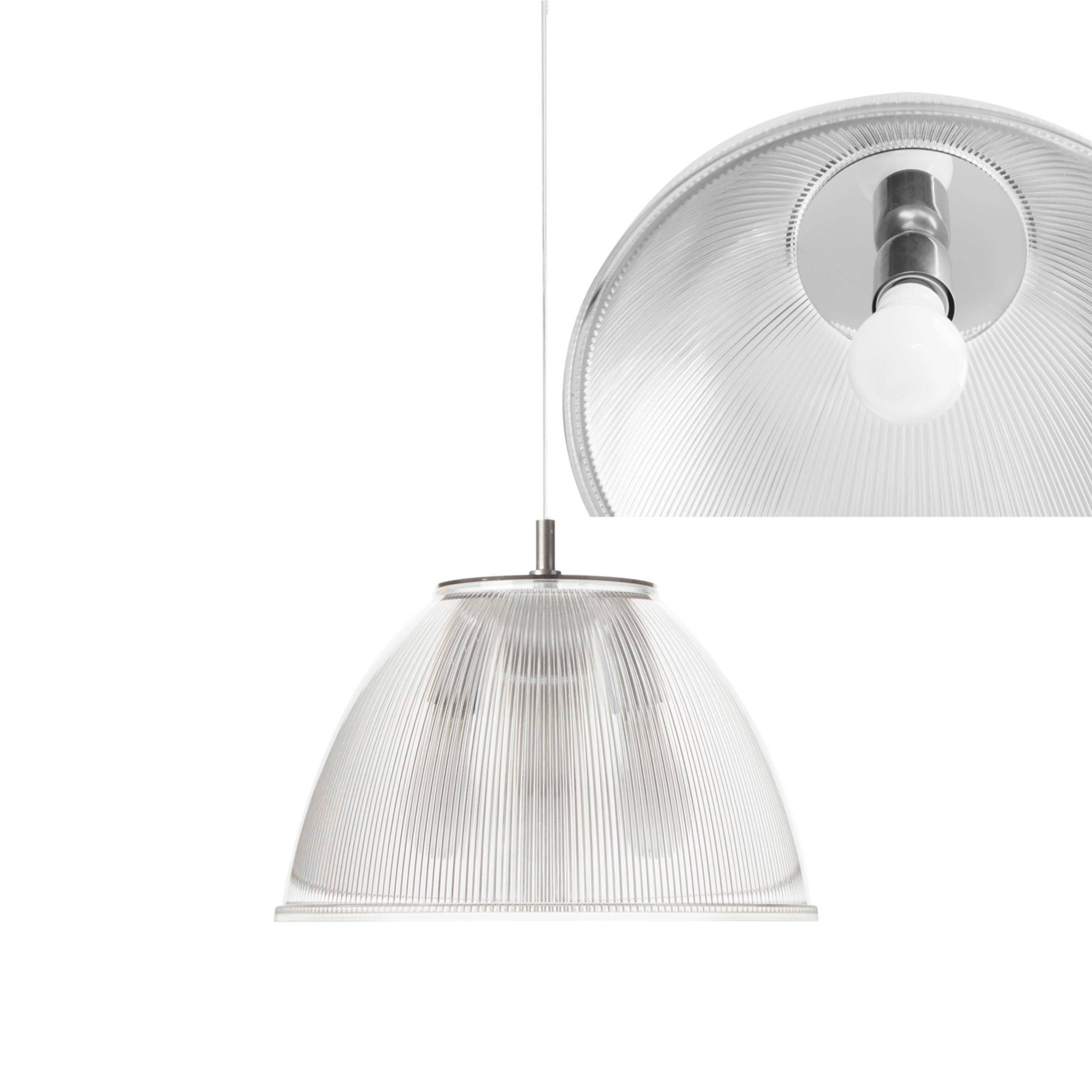 Lampada a sospensione ISABEL Ø30xh31 cm 1 x70W max E 27 HGS con calotta prismatica e particolari In PMMA