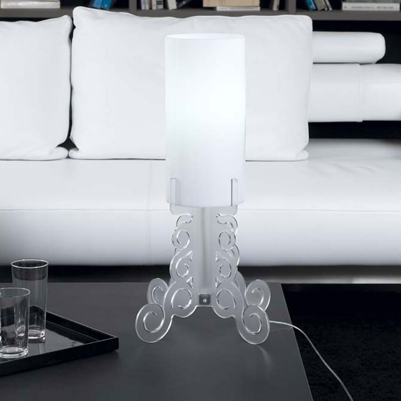 Lampada da tavolo 27x27xh60 cm truciolo grande lampadine for Lampada da tavolo grande