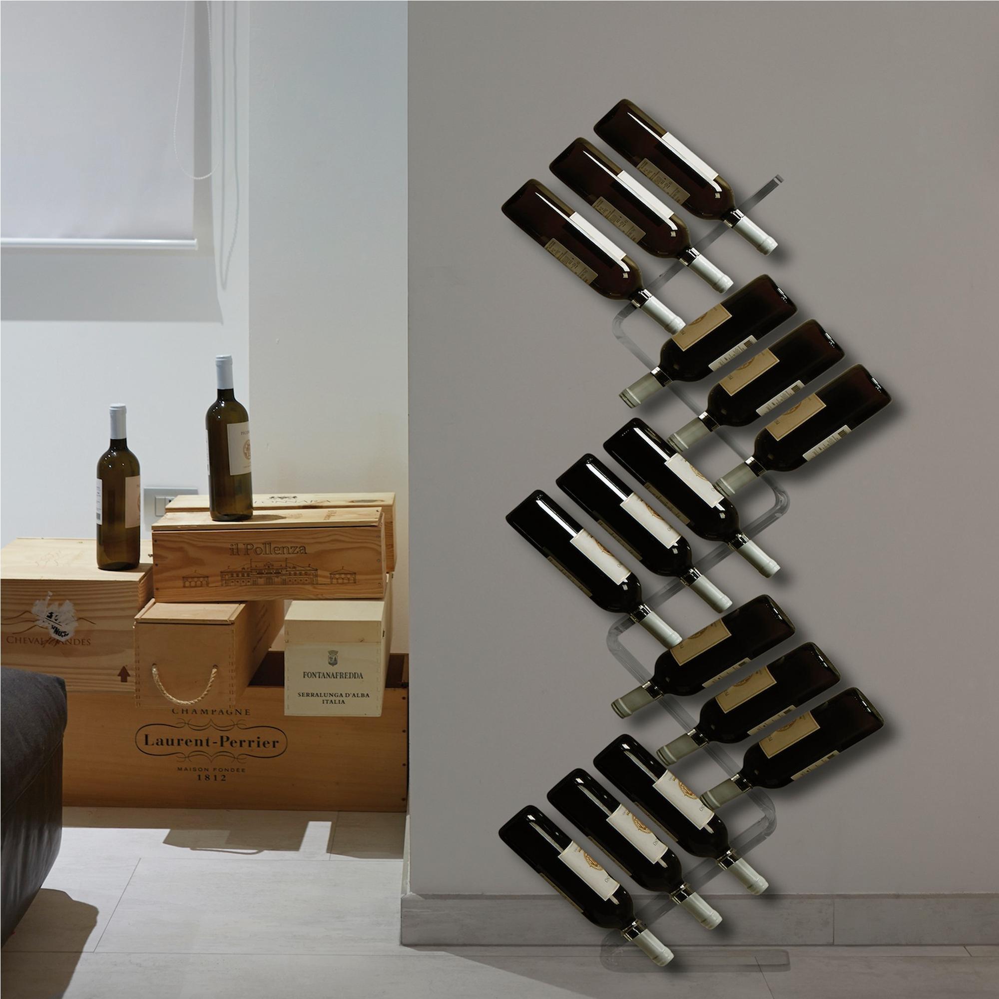 Portavino da parete in metacrilato 25x10xh122 cm 15 - Porta vino ikea ...