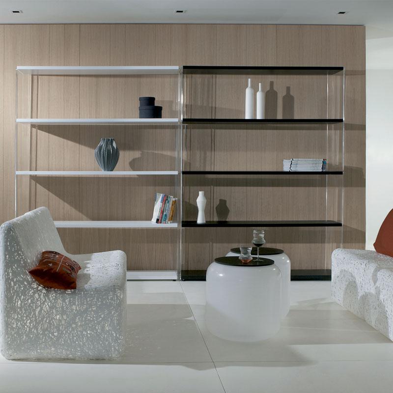 Libreria da parete papira struttura in metacrilato trasparente con ripiani di - Libreria da parete ikea ...