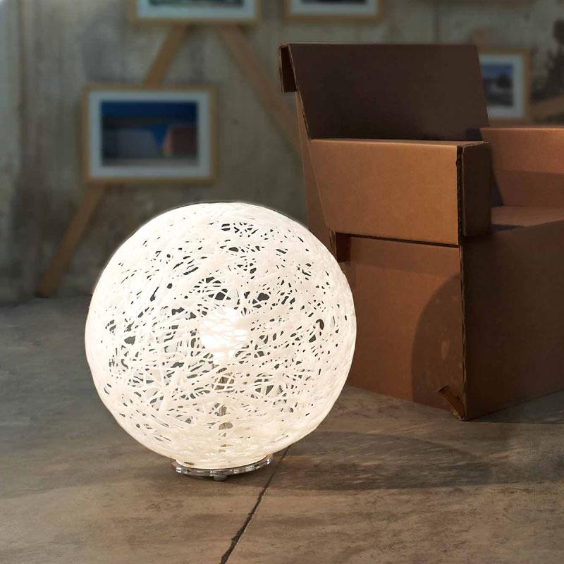 Lampada da appoggio reload 48xh 52 cm bianco emporium for Lampade da appoggio