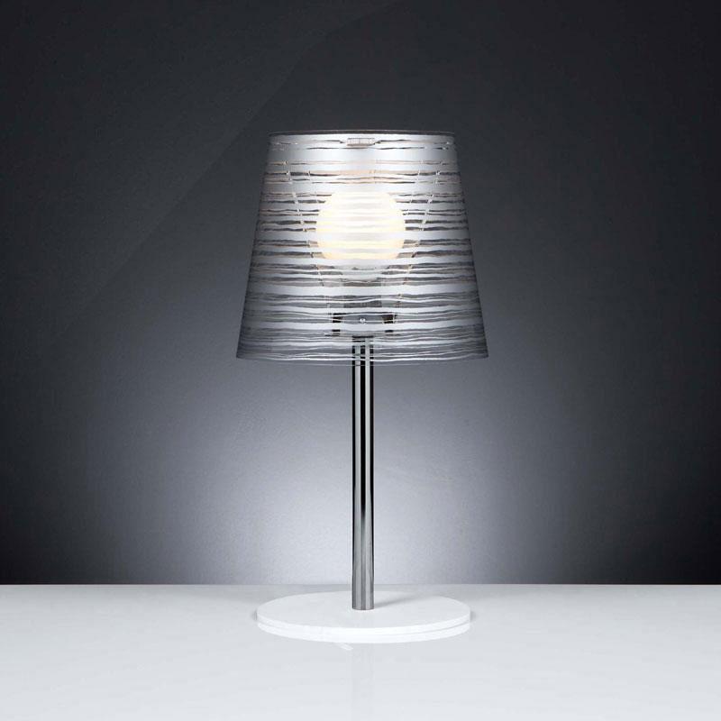 Lampada da tavolo diametro 30xh56 cm con paralume in - Tavolo policarbonato ...