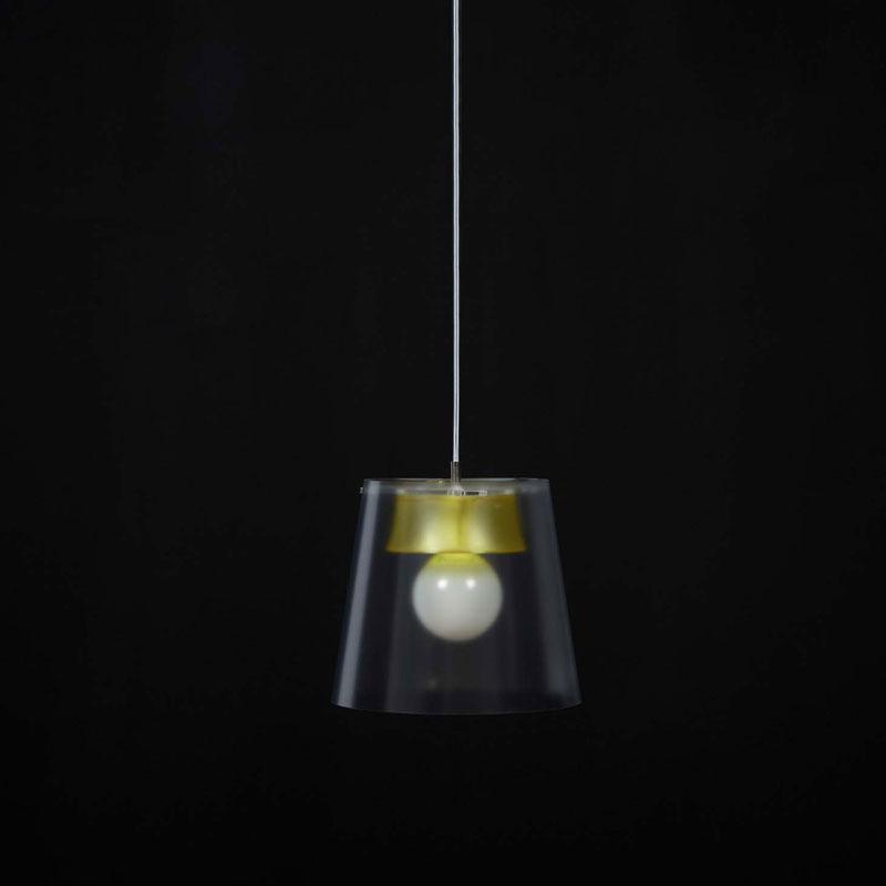 Lampadario JOY diametro 30cm Giallo Trasparente