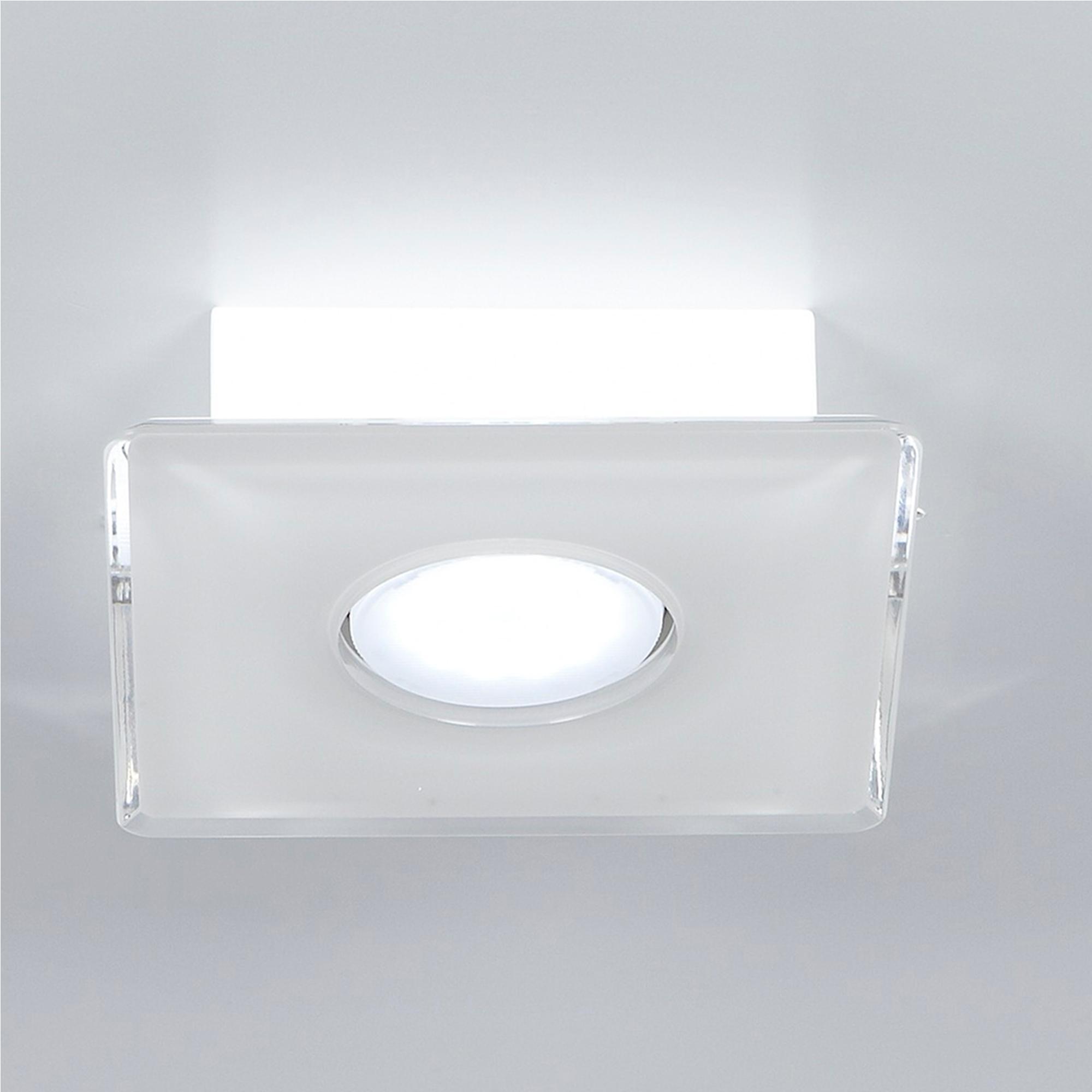 Plafoniera da soffitto Quadrata 1 Luce