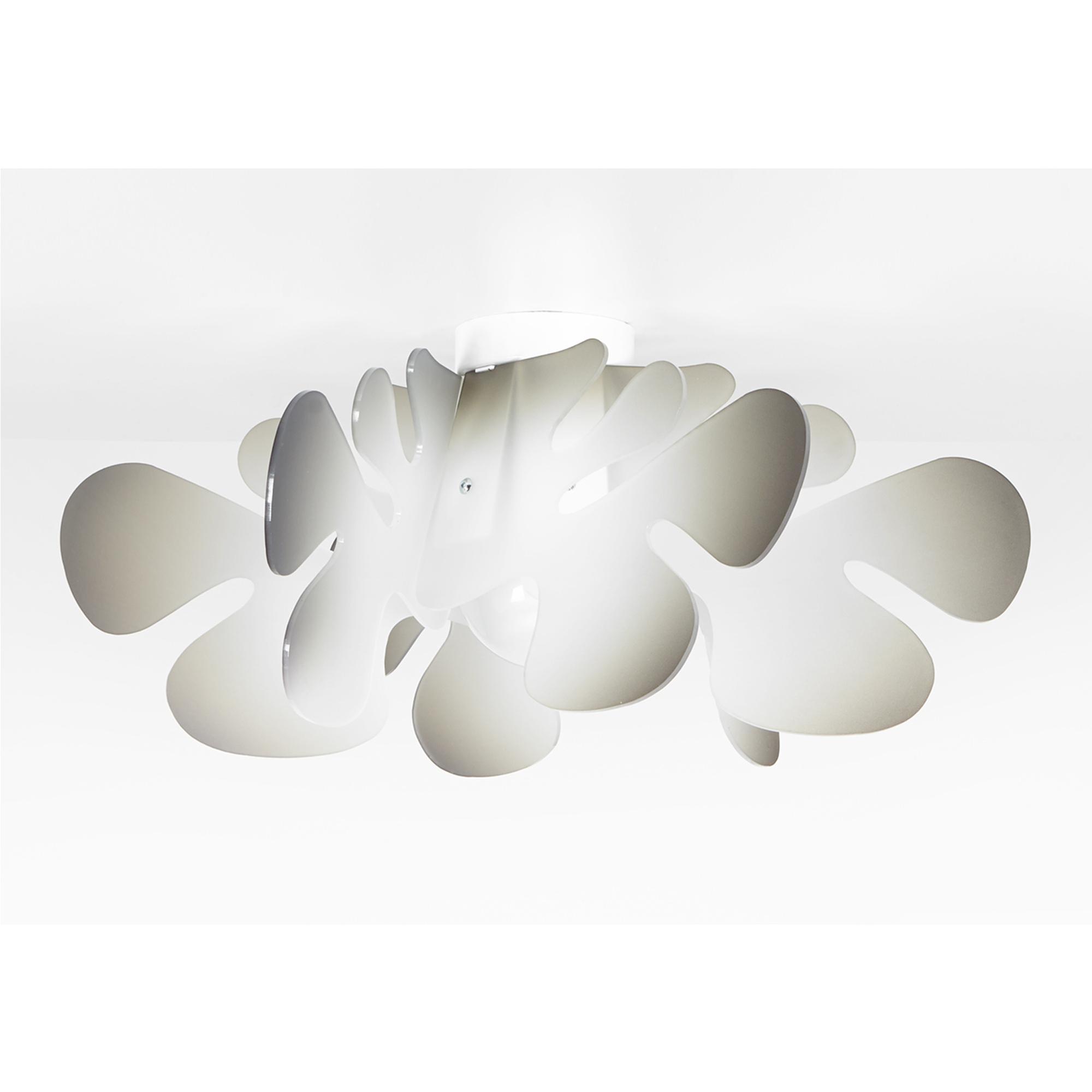 Plafoniera da soffitto in metacrilato ARALIA Ø53xh23 cm Medio Grigio Nuance