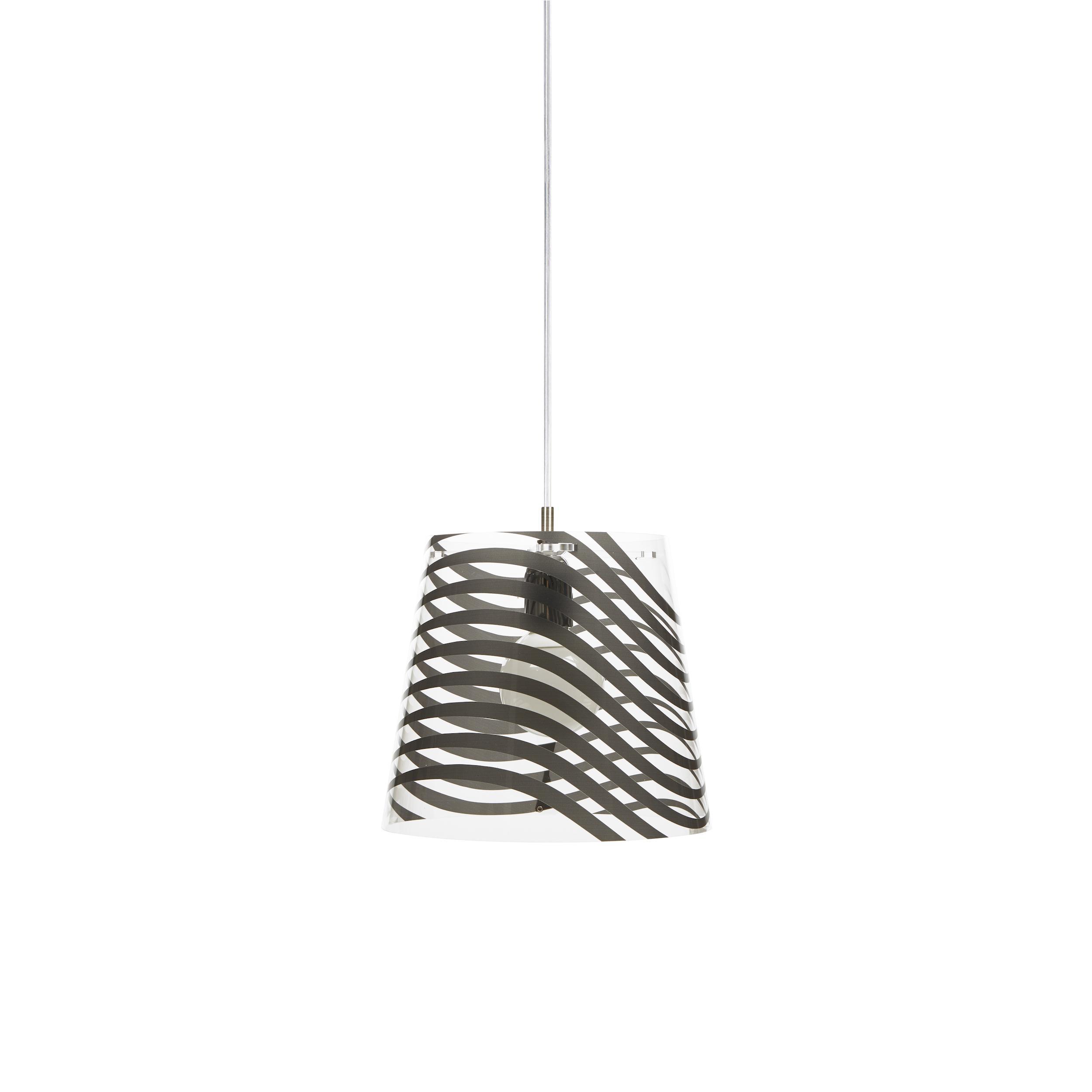 Sospensione lampadario con paralume in policarbonato