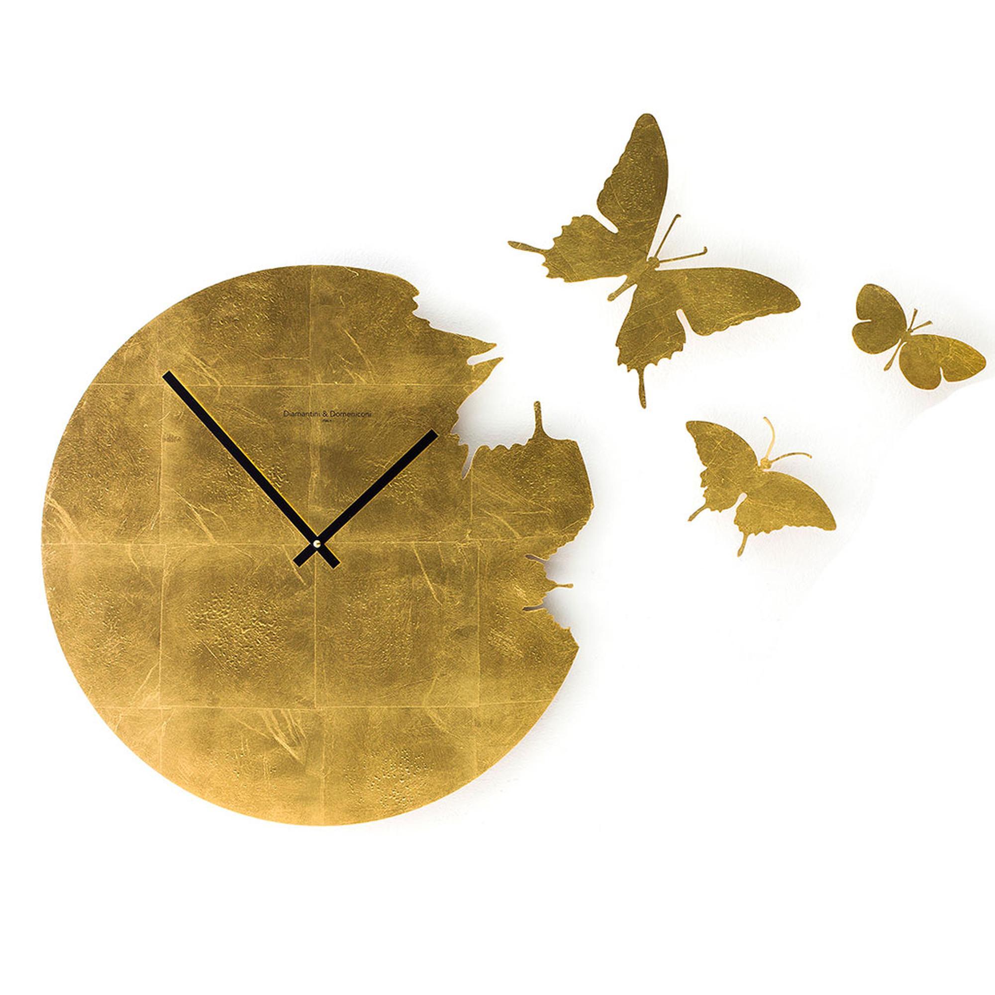 orologio da parete butterfly 48x2 cm cassa in metallo