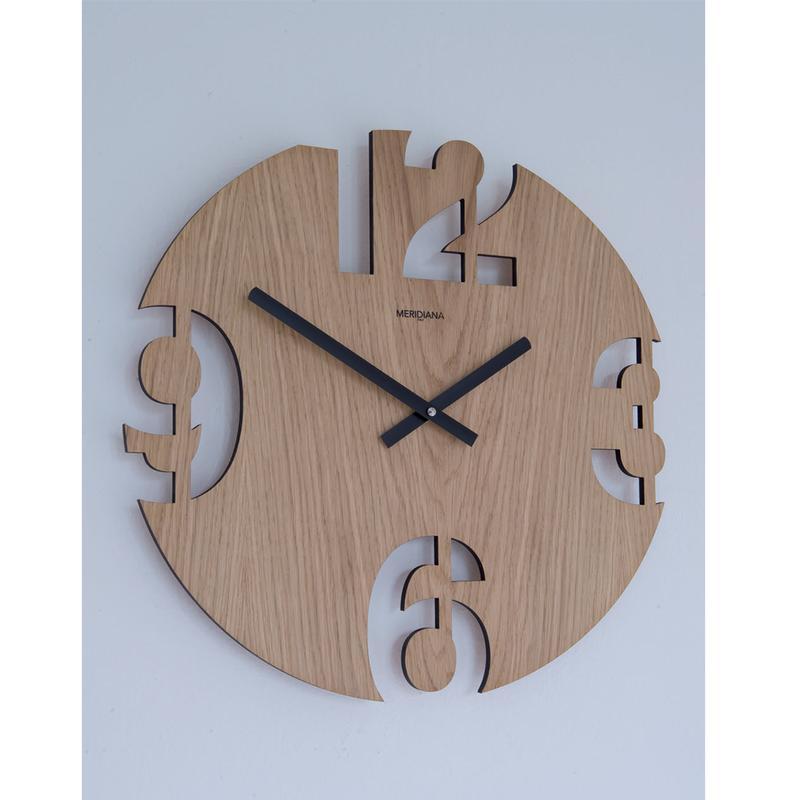 Orologi da parete in legno for Orologi particolari da parete