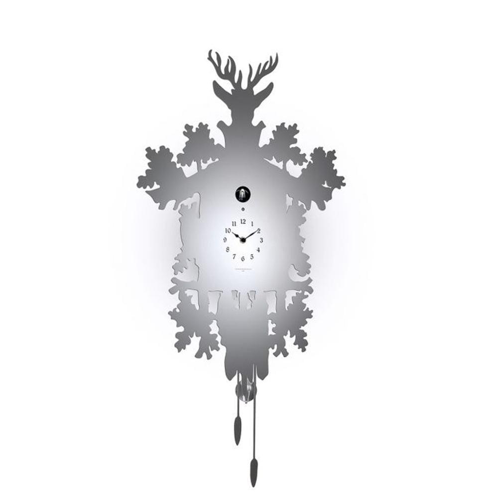 Orologio cucu metallo bianco diamantini domeniconi - Orologio cucu design ...