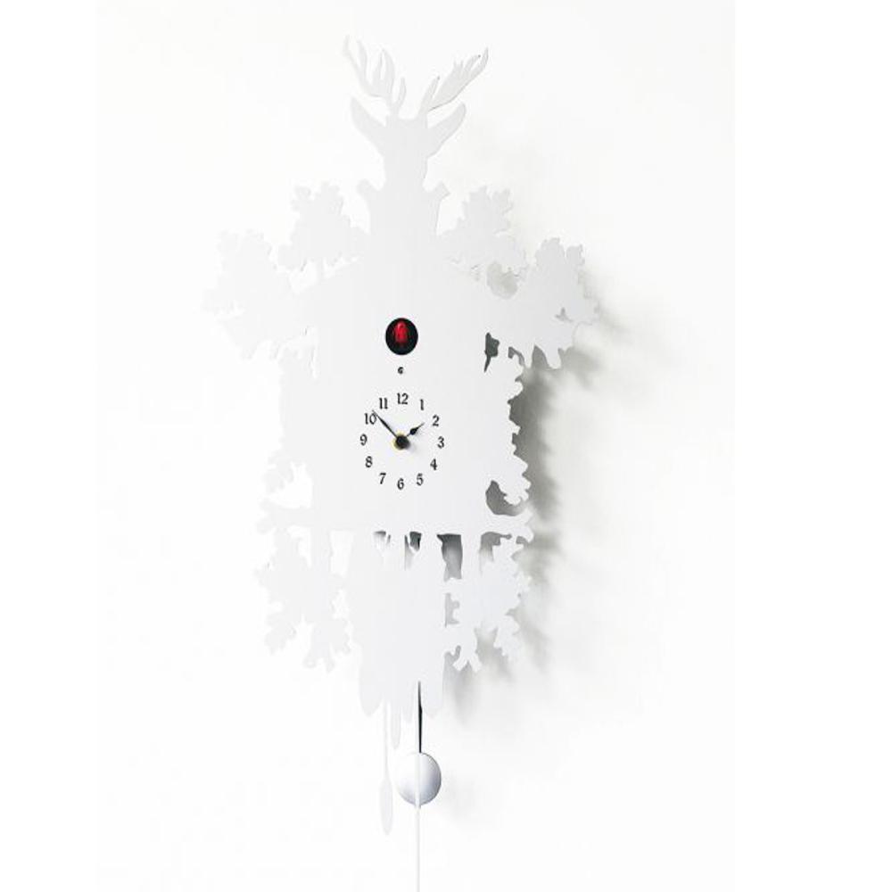 Orologio Cucu Metallo Bianco Diamantini Domeniconi h88x45x9.5 ...