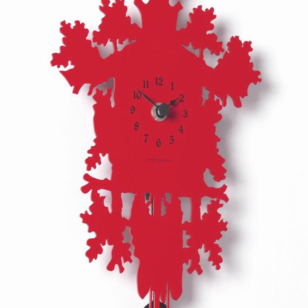 Orologio Cucu Metallo Rosso Diamantini Domeniconi h88x45x9.5 ...