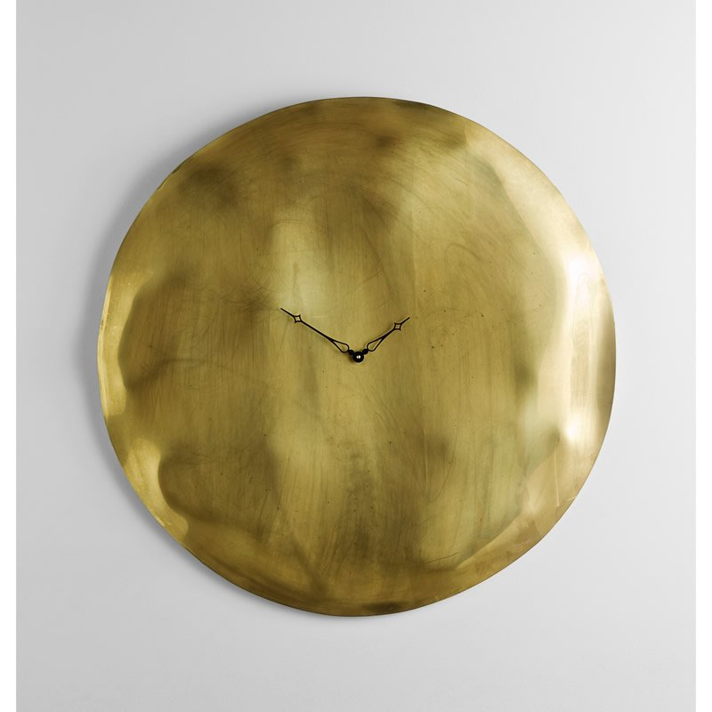 Orologio da Parete cassa in vetro foglia oro Ø 45 design Pascal ...