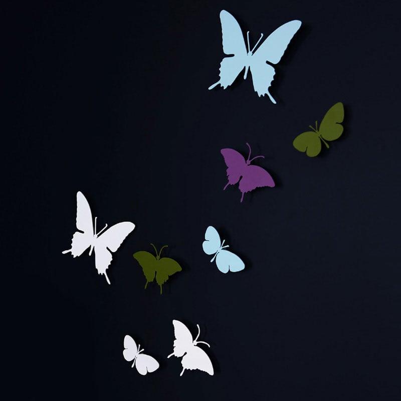 Farfalle Da Muro KIT 3 Pezzi laccate in acciaio super mirror  Diamantini e Domeniconi ...