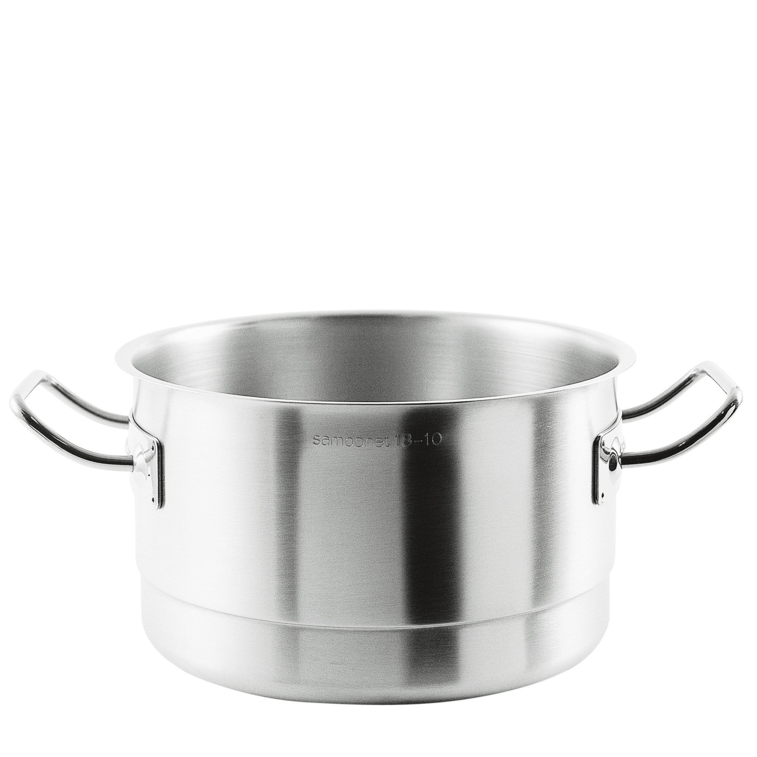 Colatore, Cuocivapore Professionale acciaio inox 18/10 Professionale Ø24xh15 cm