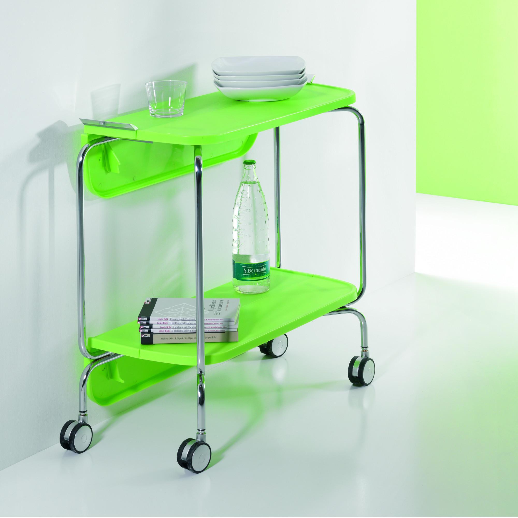 Carrello portavivande richiudibile in abs richiudibile a meta o completamente smart colore verde for Accessori giardino ikea