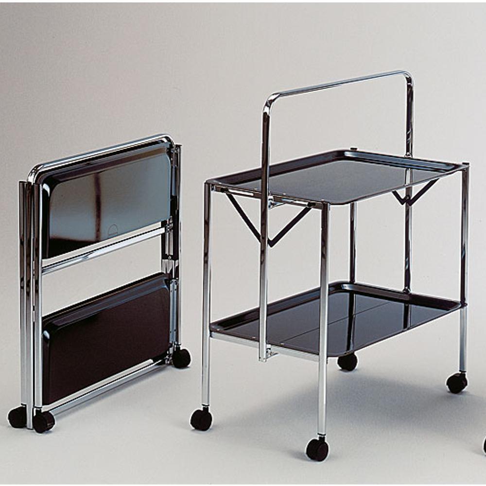 Carrello portavivande richiudibile in soli 6 cm select 64x42xh82cm struttura in acciaio vassoi - Carrelli porta vivande ...