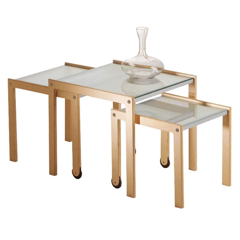 Tavolini Da Salotto Impilabili.Tris Tavoli Impilabili E Trasformabile Con Ruote Pezzani Srl