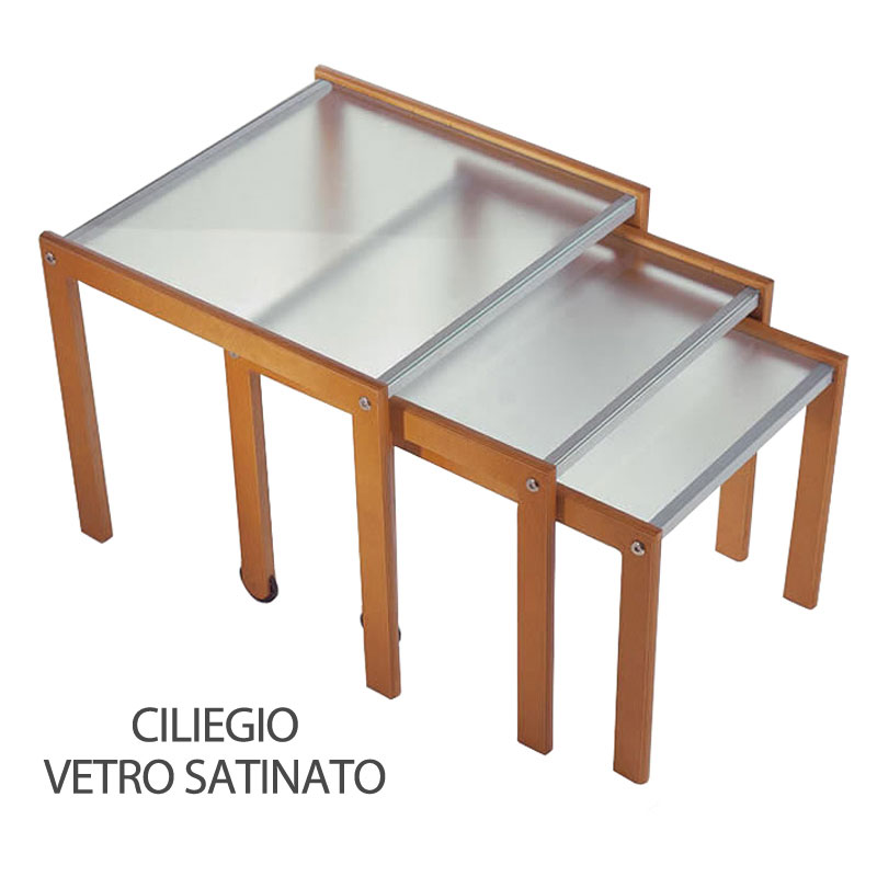 Tris Tavoli Impilabili E Trasformabile Con Ruote Pezzani Srl Stilcasa Net Tavolini Da Salotto