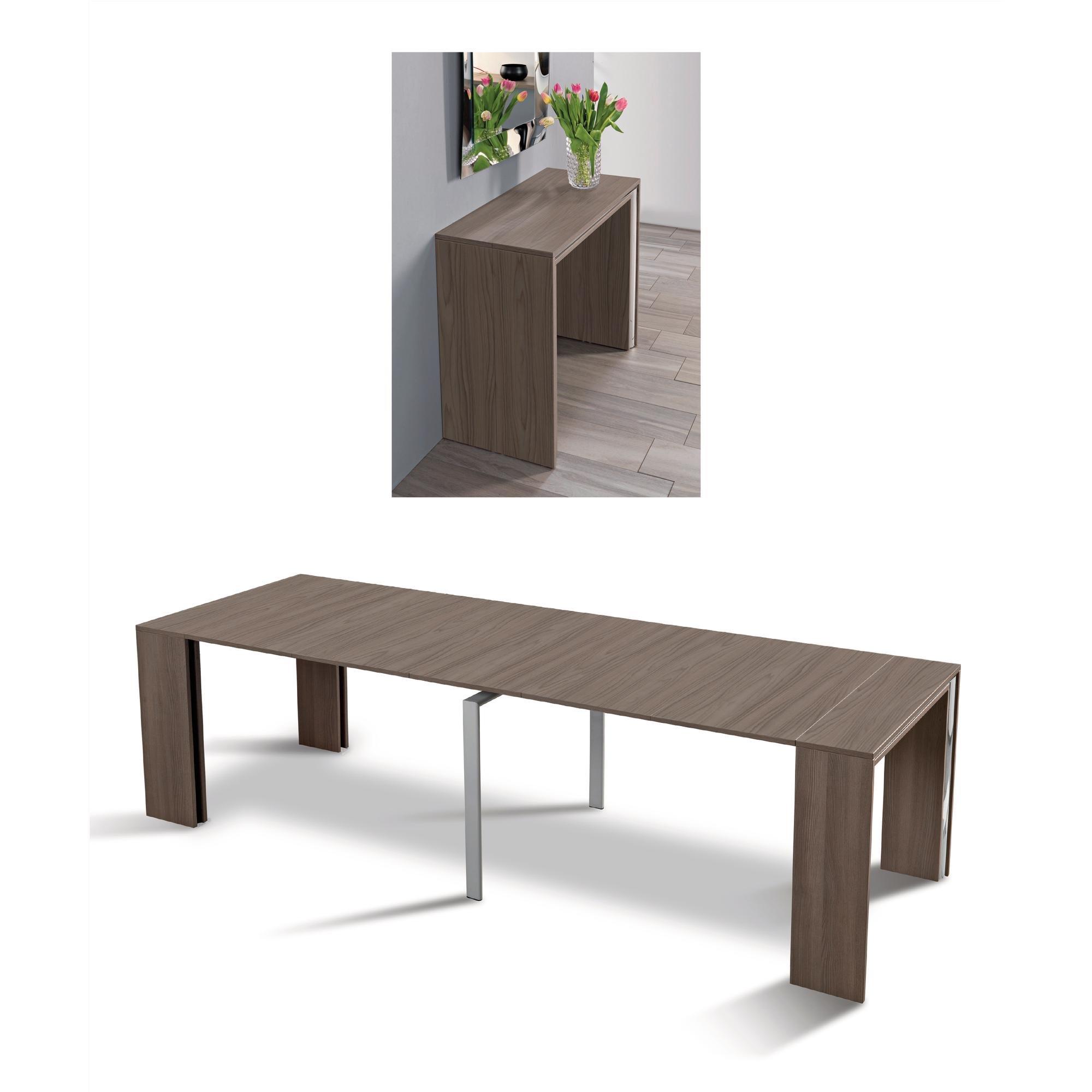 Tavolo consolle allungabile (5 allunghe) LEONARDO max 270 min 90 | Pezzani srl