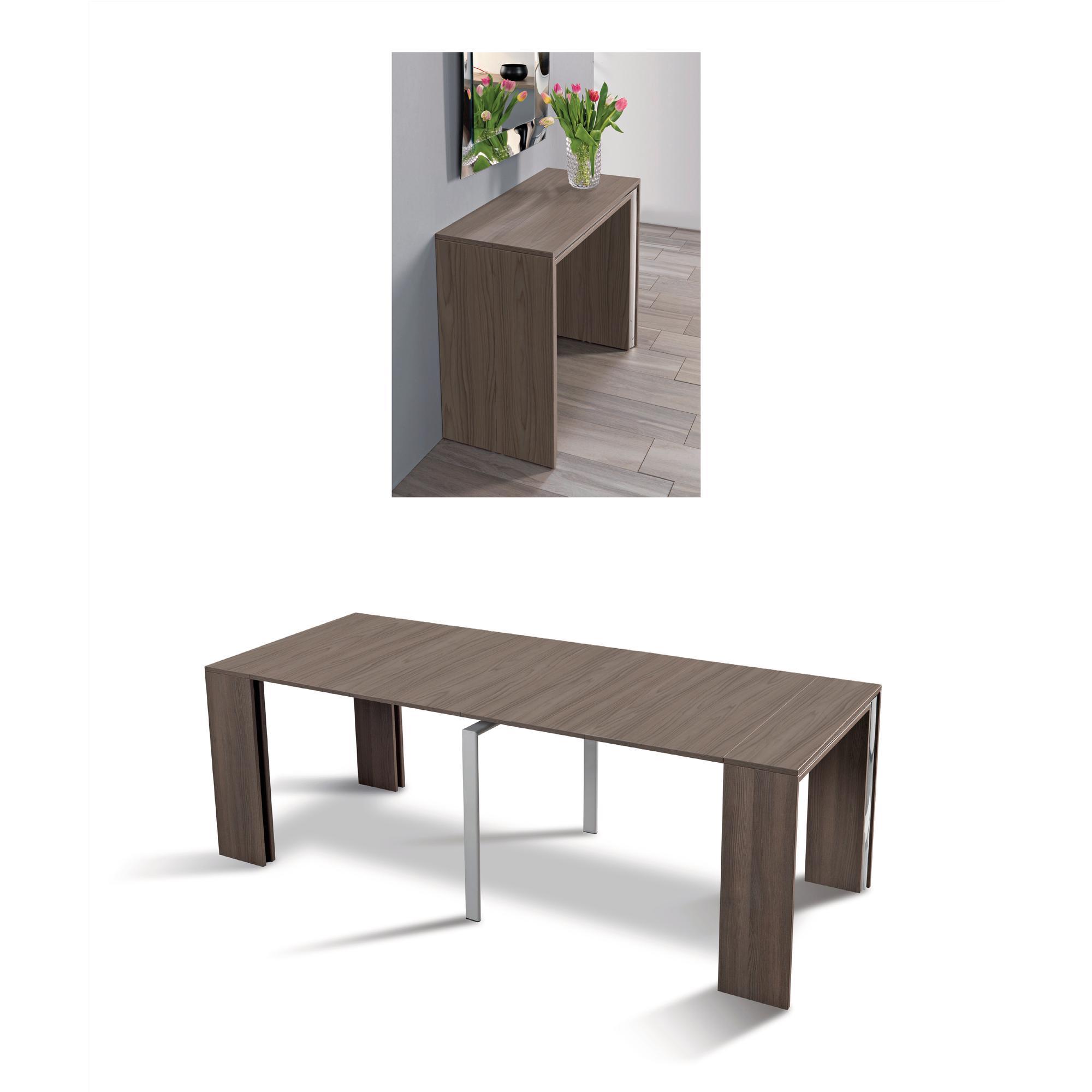 Tavolo consolle allungabile richiudibile in soli 50 cm - Tavolo richiudibile in legno ...