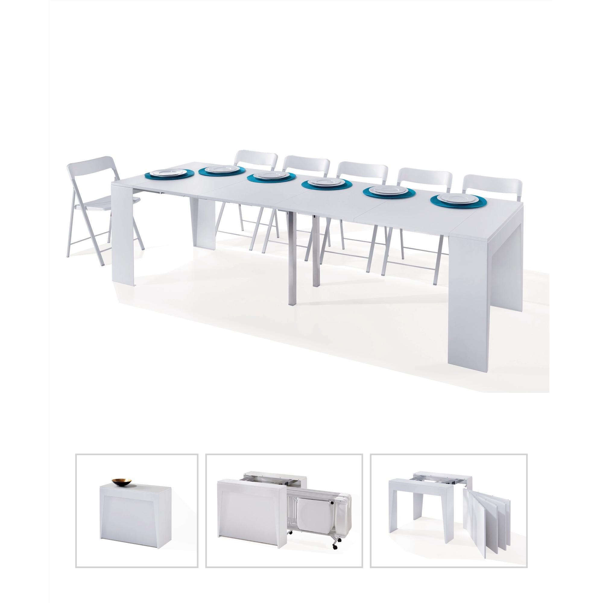 Tavolo Consolle Con Sedie Pieghevoli Calligaris Cs 06 Olivia Pocket.Tavolo Consolle Con Sedie Simple Innovation Ideas Prisma Mondo
