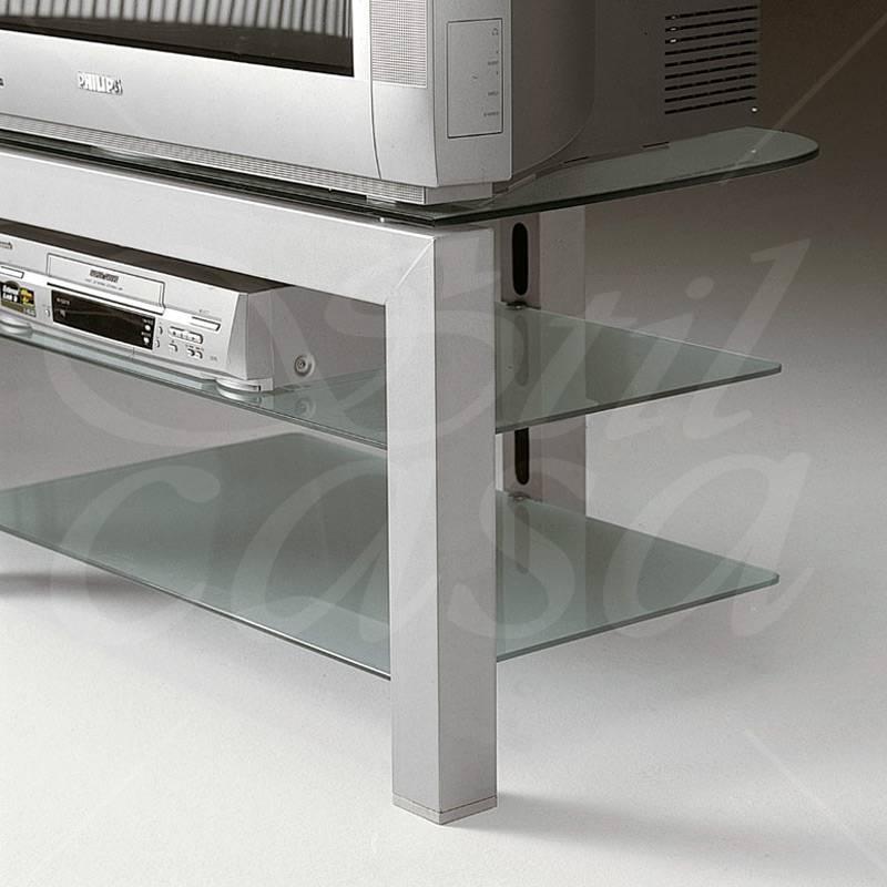 Porta tv con struttura in acciaio color alluminio mak 60 - Ferri mobili recensioni ...