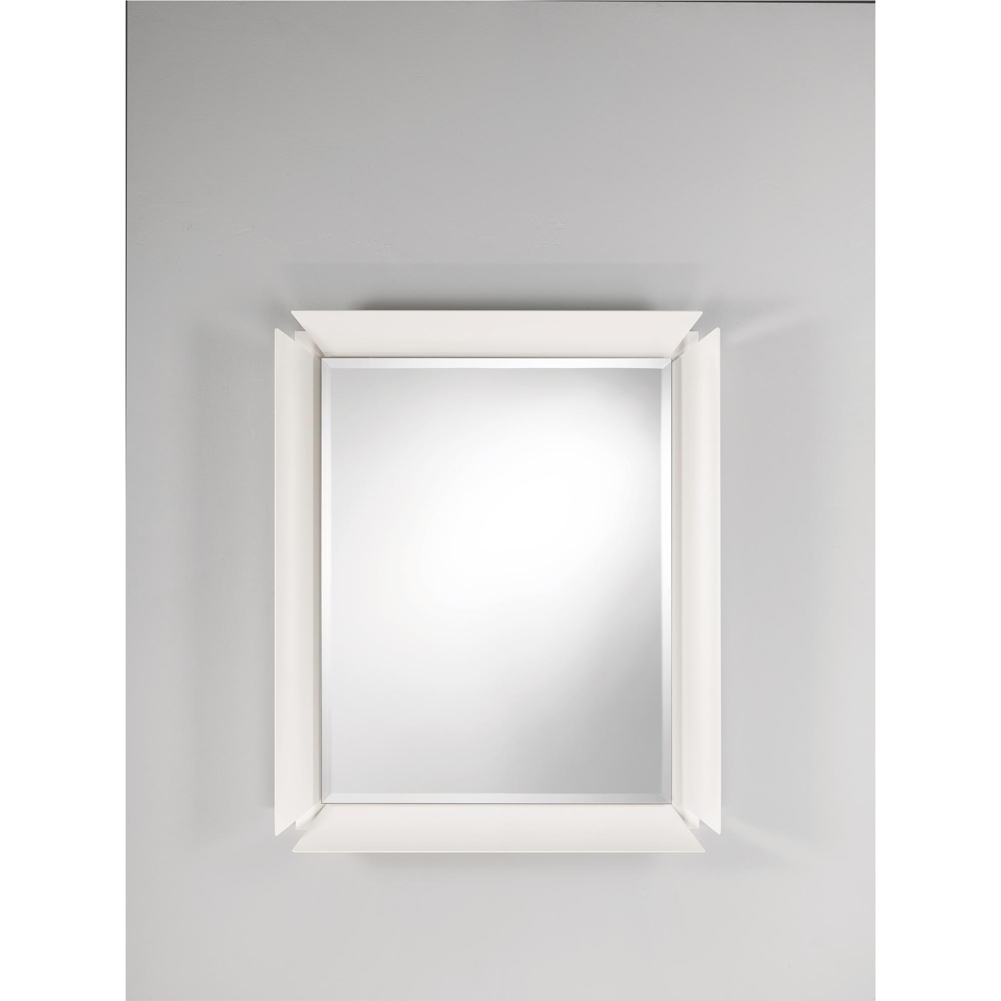 Specchio rettangolare da parete in alluminio verniciato Glam 80x96 ...