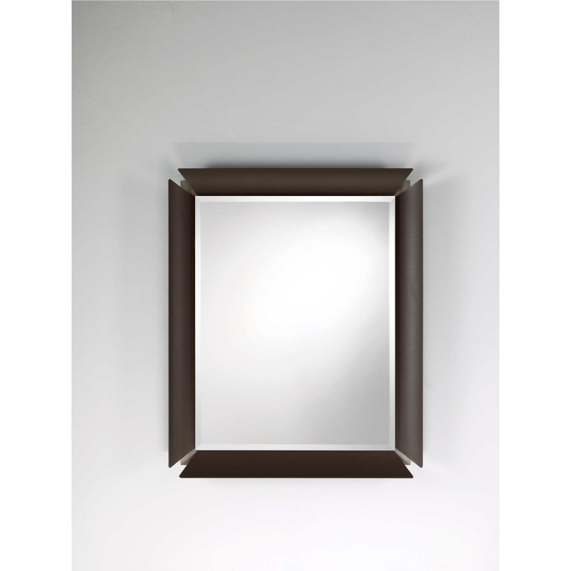 Specchio rettangolare da parete in alluminio verniciato - Specchio rettangolare da parete ...