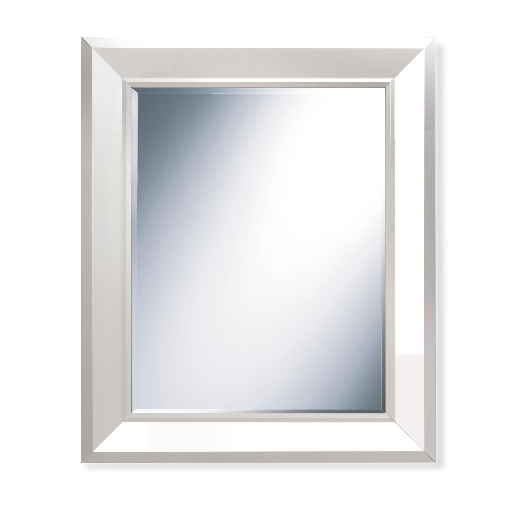 Specchiera rettangolare da parete in legno massello FLAT 85x102 ...
