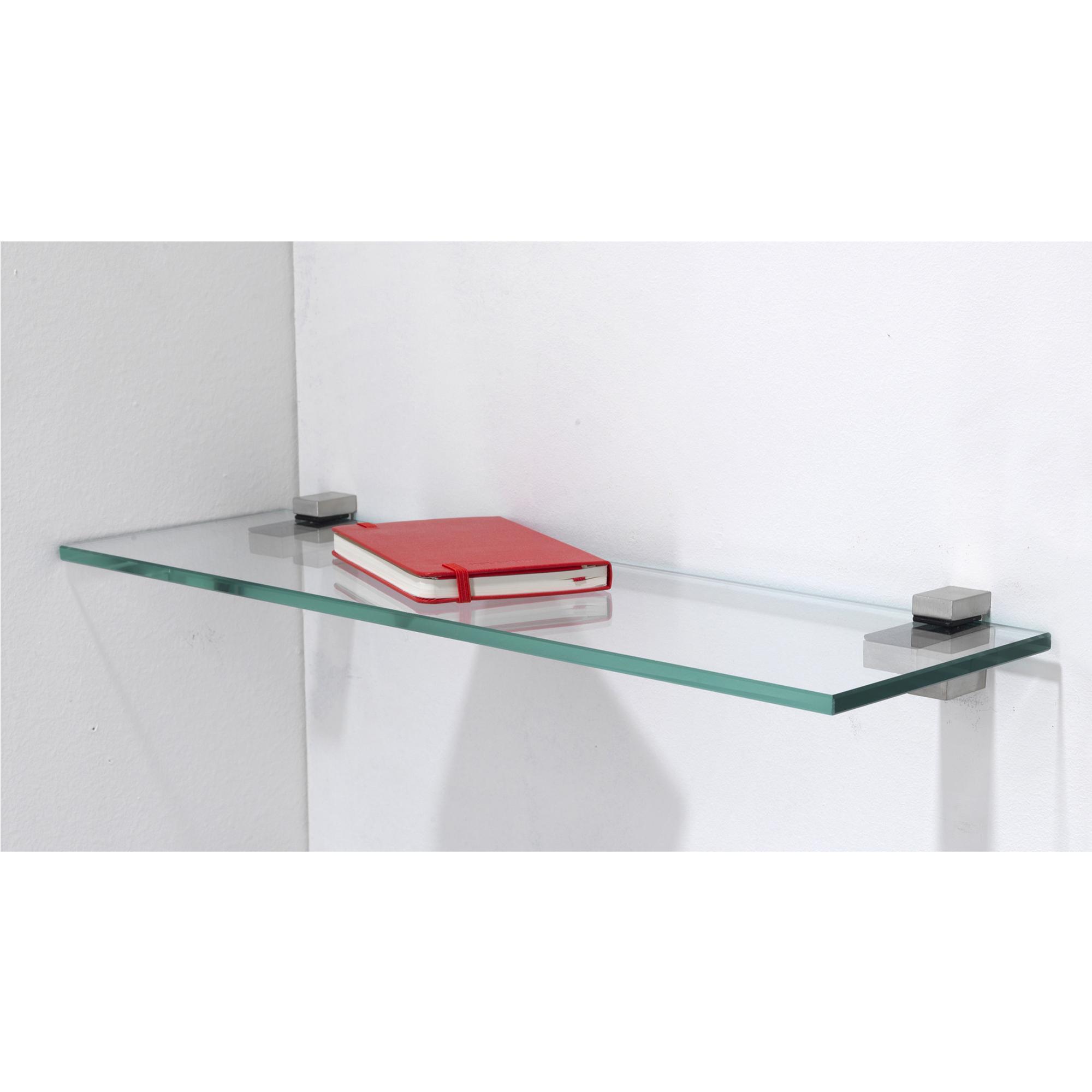 mensola in vetro temperato 50x15xh0 8 cm spessore 8 mm