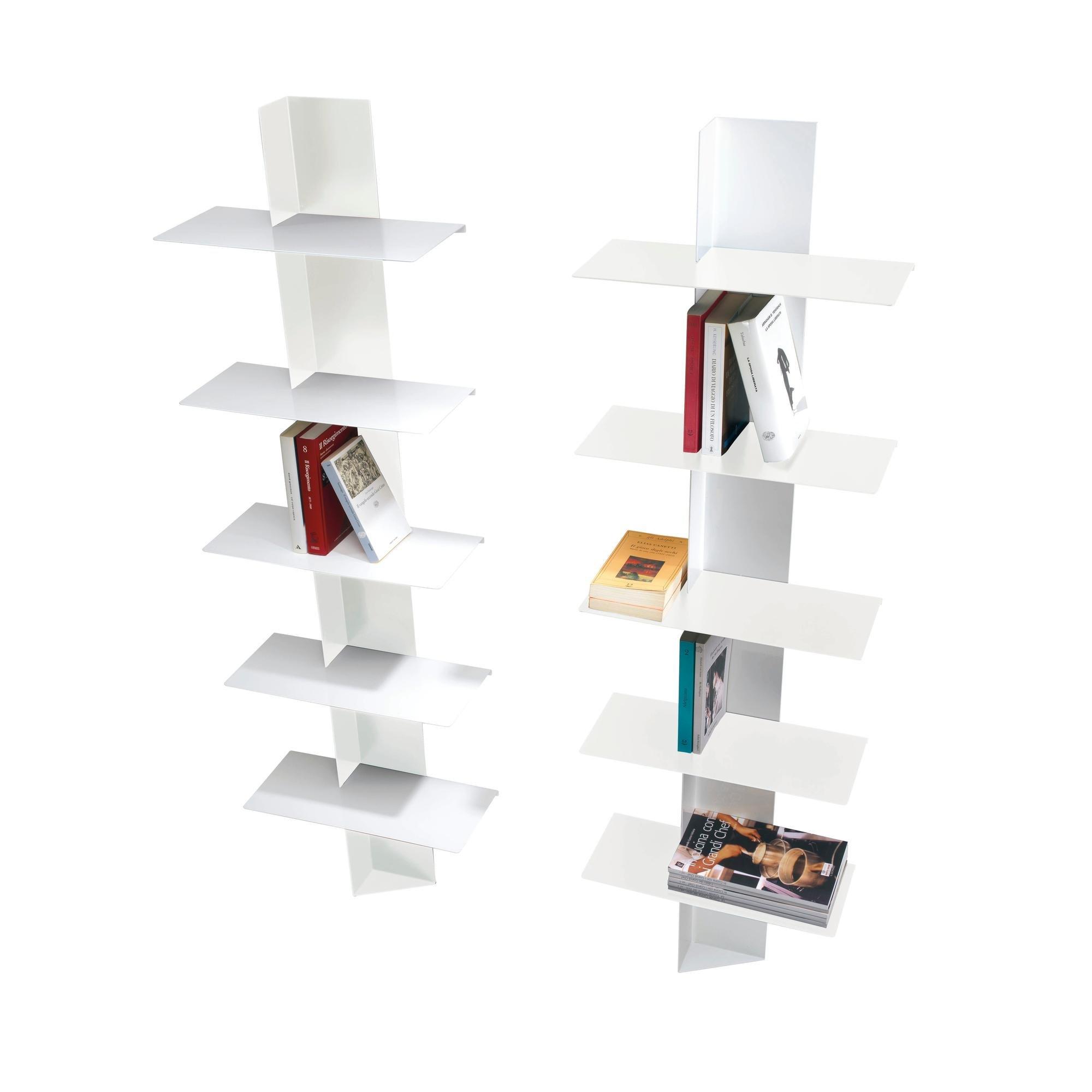 Libreria da parete con ripiani in alluminio a colonna lift - Libreria parete ...
