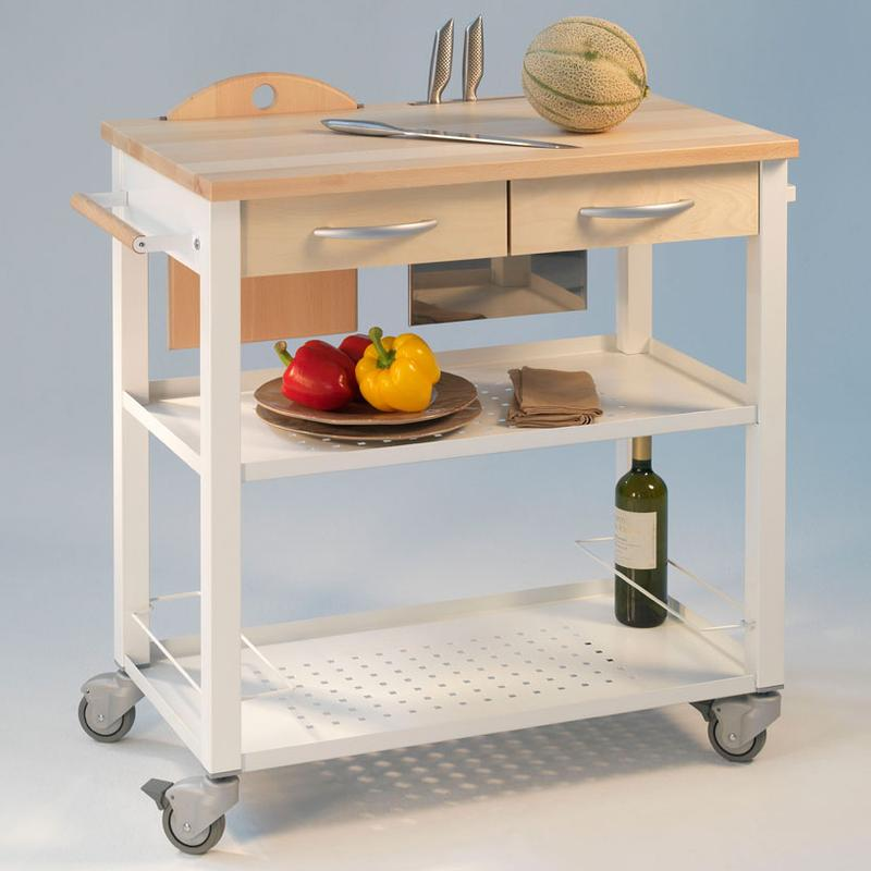 Carrello da cucina professionale chef telaio bianco con - Carrelli estraibili per cucine ...