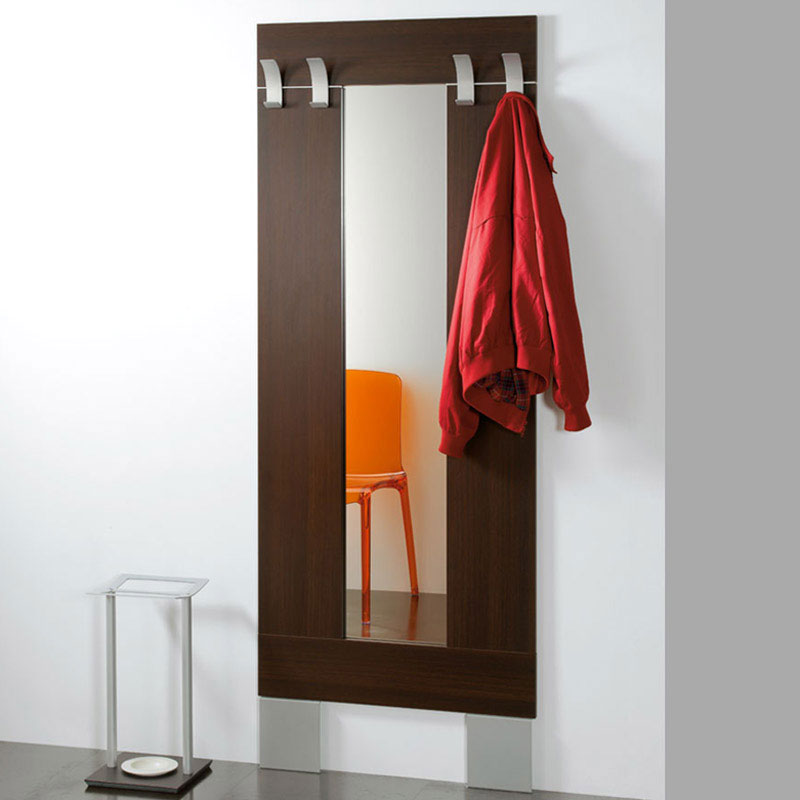 Ingresso con specchio struttura in laminato ed appendiabiti in allumino laltro pezzani srl - Appendiabiti con specchio da parete ...