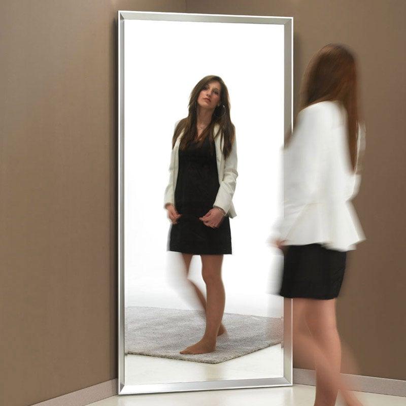 Specchio da terra riflesso h170cm pezzani srl stilcasa for Specchio girevole da terra