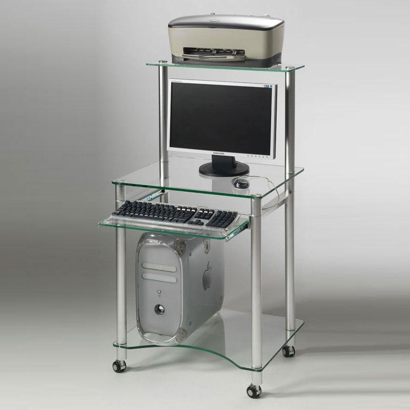 Porta pc con ripiano per stampante struttura e ripiani in for Mobili per computer