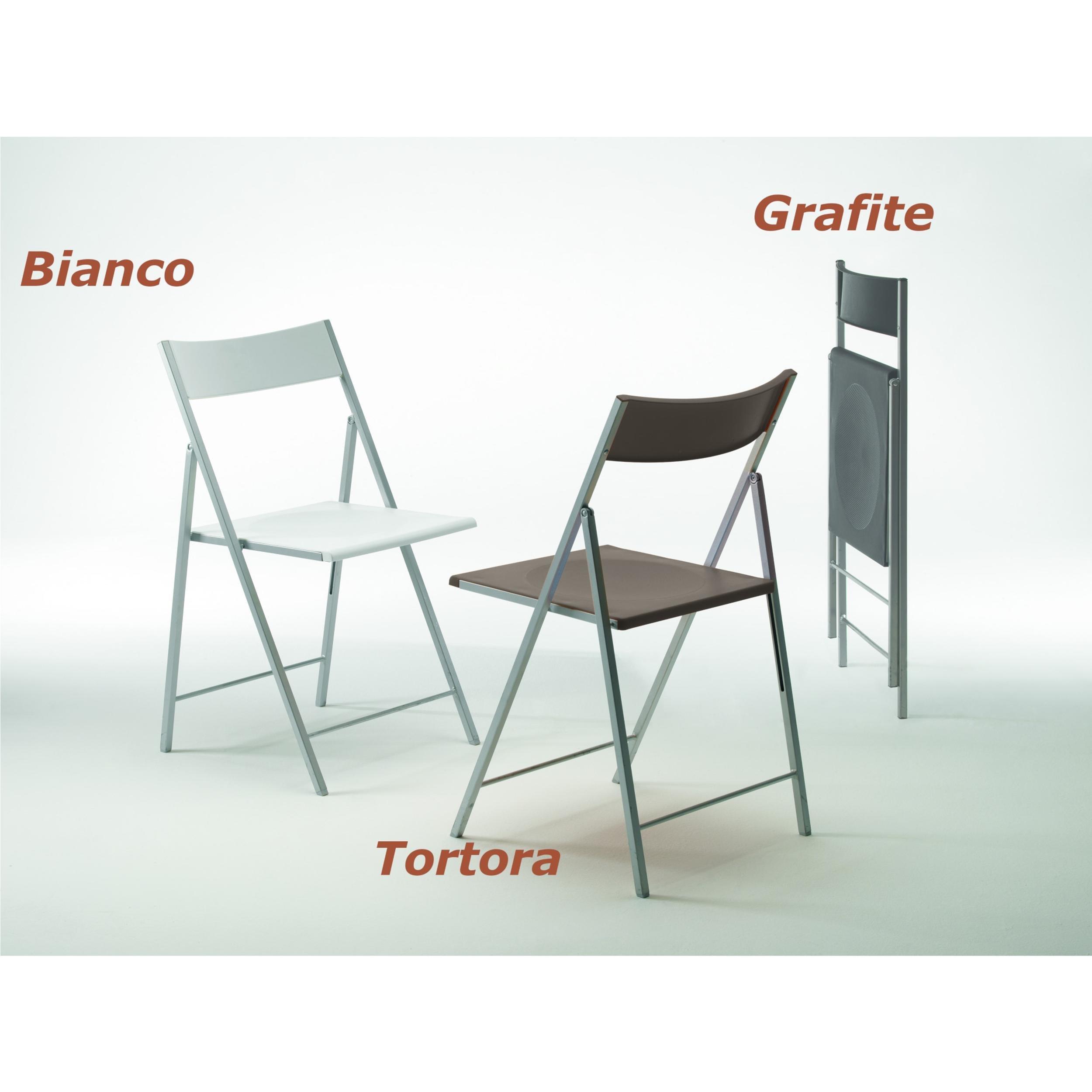 sedia pieghevole richiudibile con struttura in acciaio