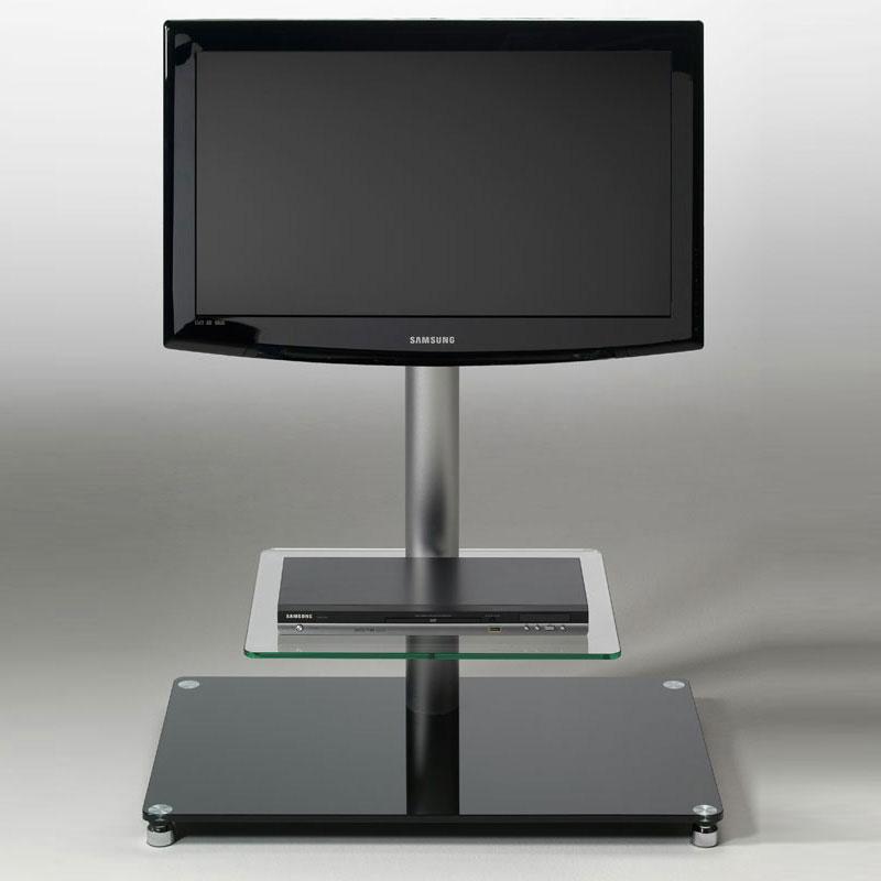 Porta tv con 1 ripiano in vetro temperato max 38 pollici - Ripiano porta tv ...