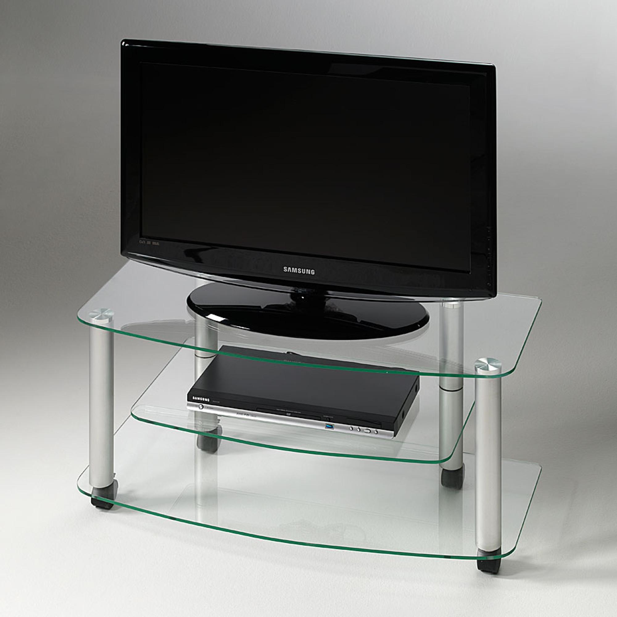 Carrello porta tv03 90x40x43h cm ripiani in vetro temperato 8 mm millenium portata max kg 45 - Mobile stiro mondo convenienza ...